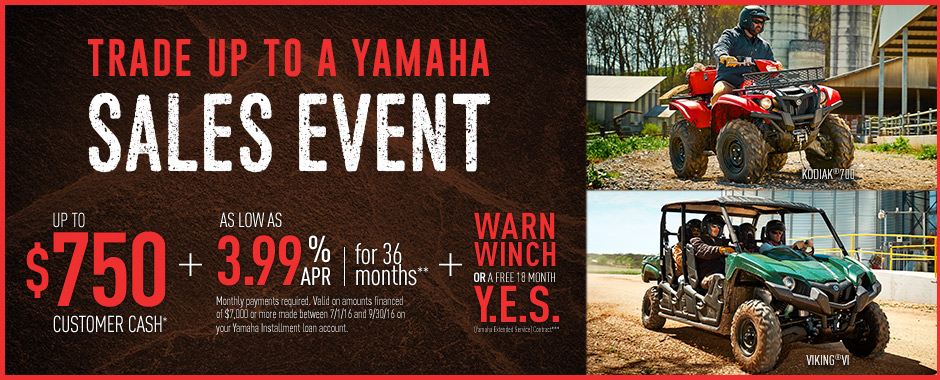 Yamaha utility side by side current offers factory financing for Yamaha credit card capital one