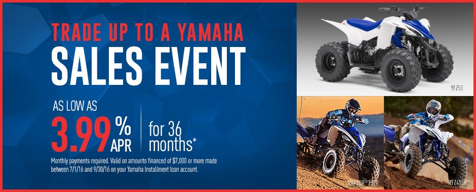 Yamaha sport atv current offers factory financing for Yamaha credit card capital one
