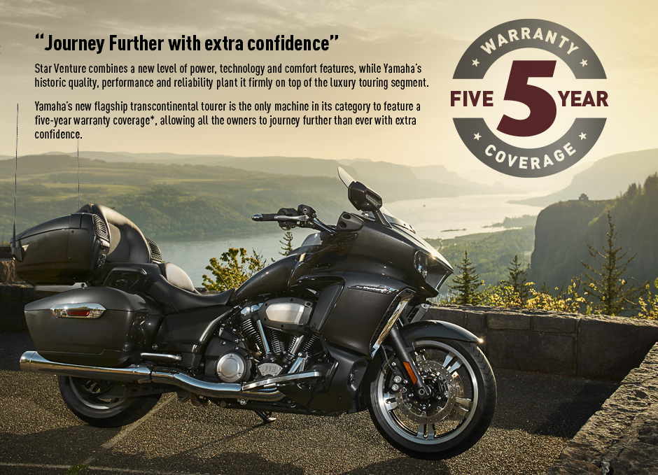 5 year warranty coverage for Yamaha motorcycle warranty